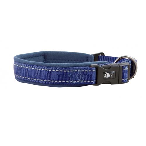 hurtta casual dog collar river blue