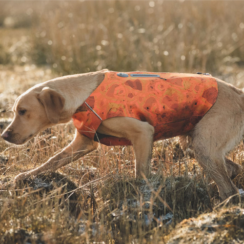 hurtta dog swimmer vest orange camo high visability