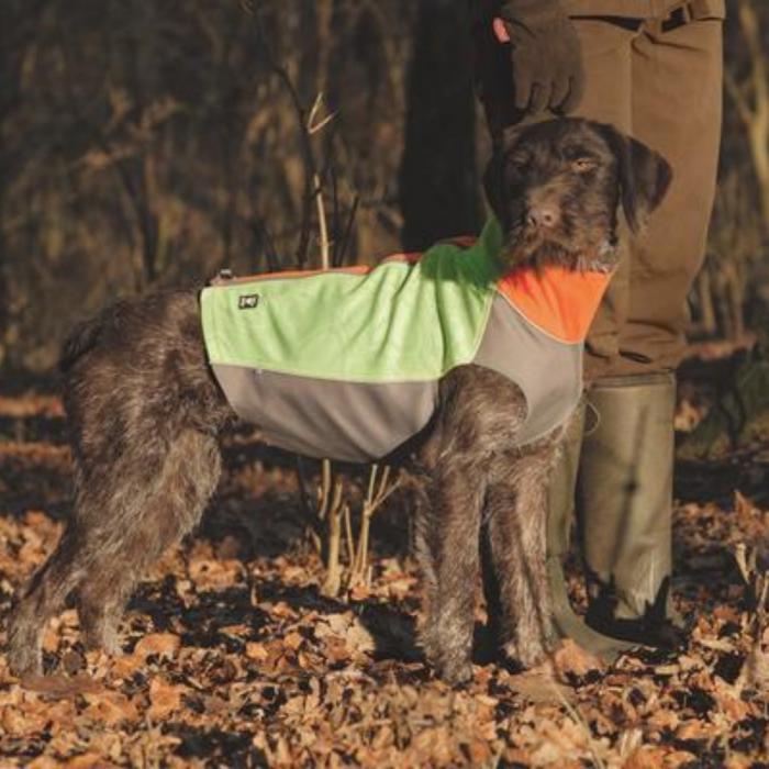 Hurtta neon combo dog worker vest high visability dog jacket protection