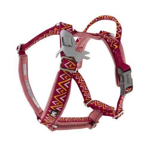 hurtta razzle dazzle dog harness beetroot