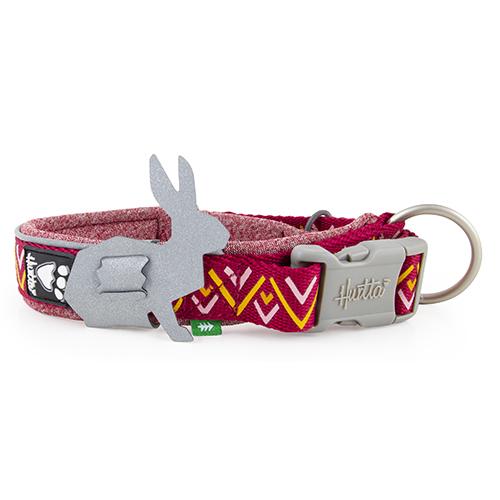 razzle dazzle dog collar beetroot red