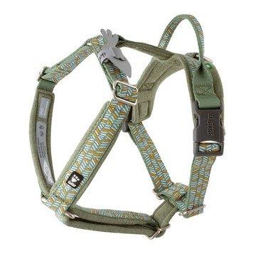 Hurtta razzle dazzle dog y harness hedge green