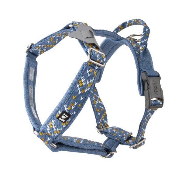 razzle dazzle dog harness Hurtta Bilberry Blue